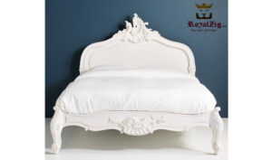 Antique Style Hand Carved Queen Bed Saharanpur (6)