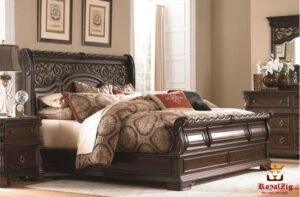 Antique Style Sleigh Bedroom Set Design