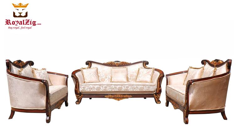 Banjara Hills Victorian Style Curved Sofa Set