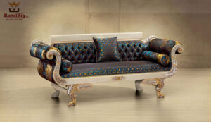 Beautiful Teak Wood Royal Maharaja Sofa Design