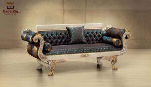 Beautiful Teak Wood Royal Maharaja Sofa Design
