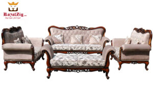 Begumpet Classic Style Cherry Sofa Set