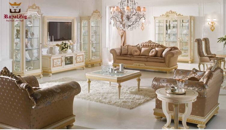 Delightful Royal Look Luxury Sofa Set Design