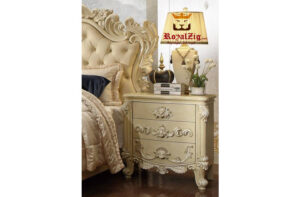 Designer Hand Carved Luxury Pearl Collection Bedroom set