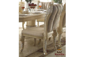 Designer Hand Carved Luxury Pearl Collection Dining Table