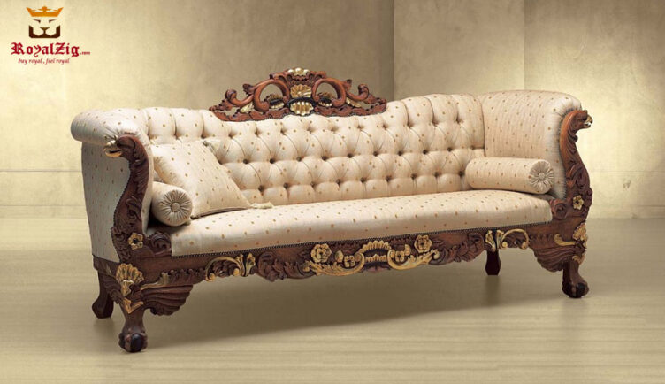 European Style High Carving Tufted Sofa