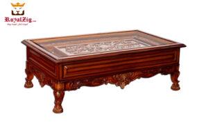 maharja style cherry finish royalzig sofa set