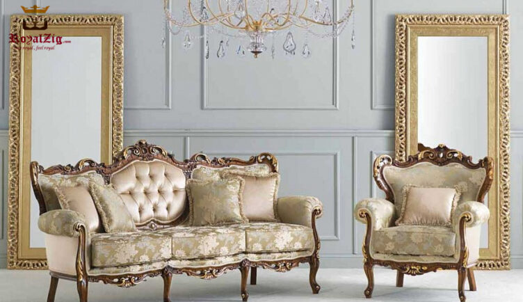 Indian Classic Style Heart Shape Sofa Set