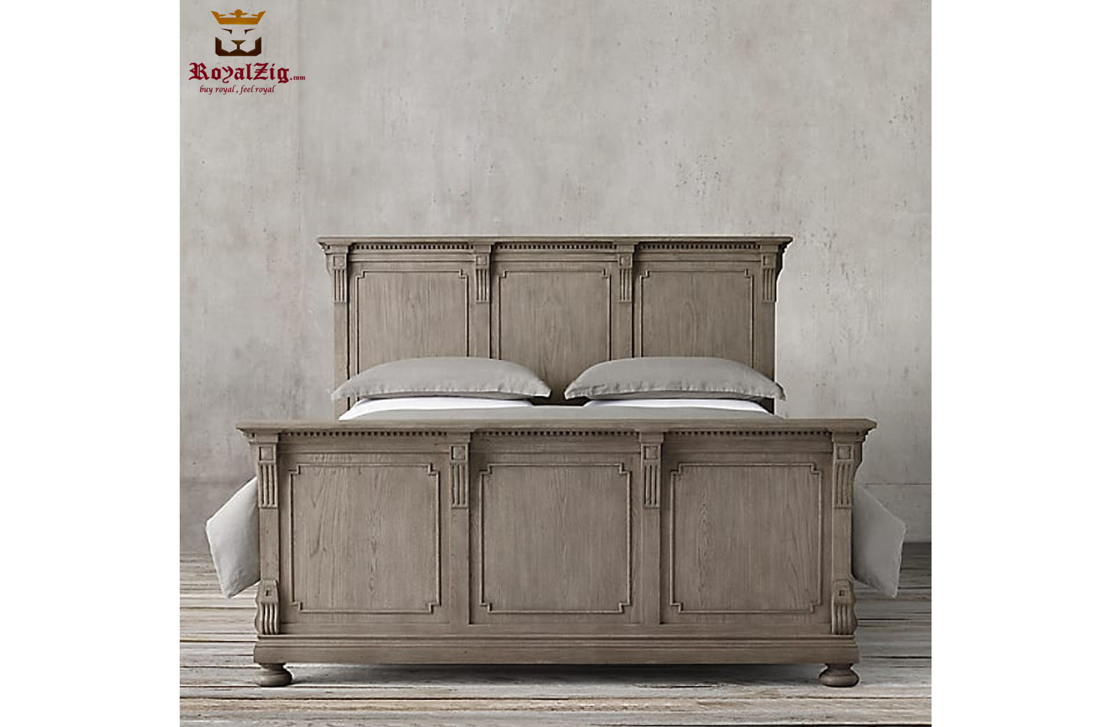 Indian Traditional Style Rustic Bed 1