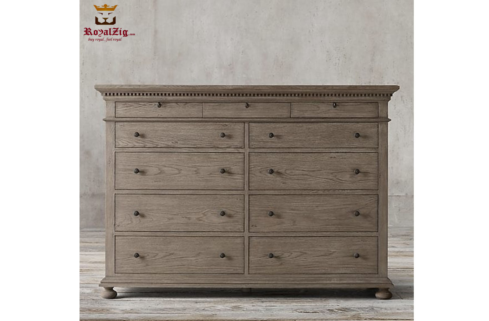 Indian Traditional Style Rustic Dresser 1