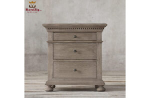 Indian Traditional Style Rustic Nightstand