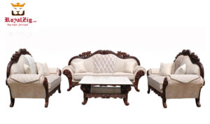 Lower Parel Teak Wood Sofa Set