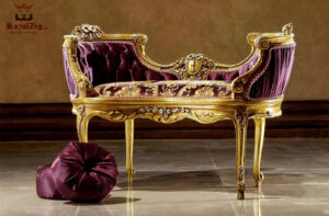 Luxury French Style Carved Chaise Lounge