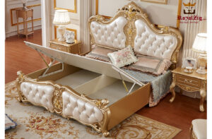 Luxury Gold Carving Bed