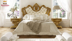 Luxury Hand Carved Classical Style Bed