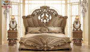 Maharaja Style High Carving Master Bedroom Set Furniture