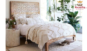 Modern Hand carved Platform Bed