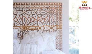 Modern Hand carved Platform Bed
