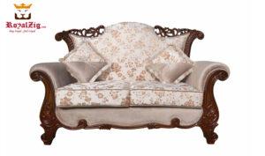 Nugambakkam Walnut 7 Seater Sofa Set (2)