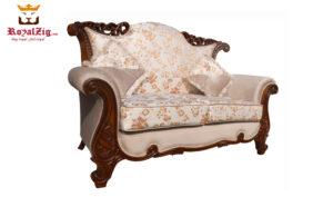 Nugambakkam Walnut 7 Seater Sofa Set (4)