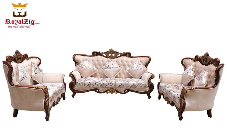 Royal Antique Gold Ornate Carving Sofa Set