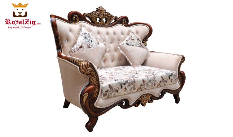 Royal Antique Gold Ornate Carving Sofa Set (2)