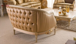 Royal Luxury Classic Style Golden Sofa Set (2)