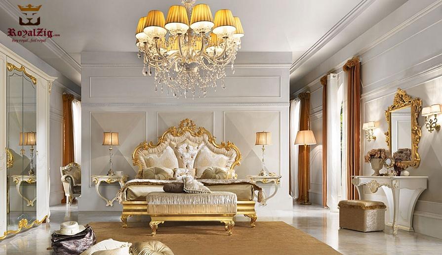 Royal Luxury Teak Wood Bedroom Set Furniture India 1