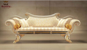 Royalzig Luxury Teak Wood Maharaja Sofa Online India