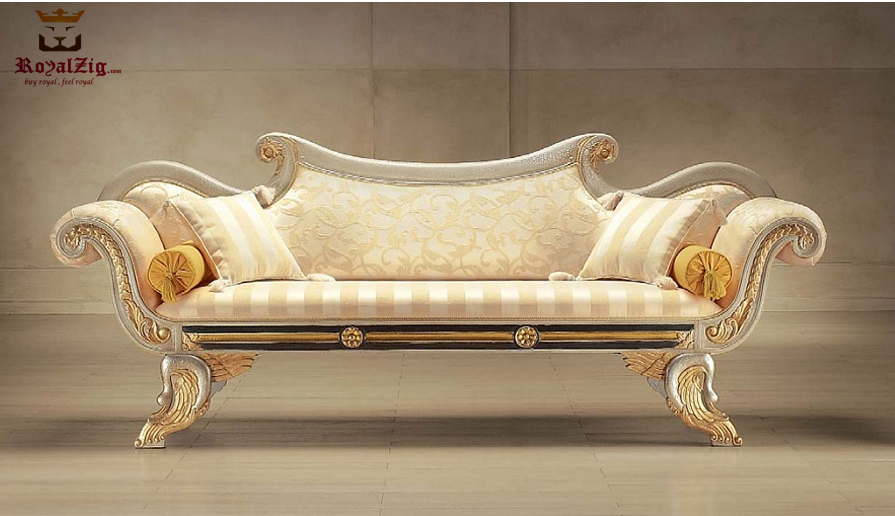 Royalzig Luxury Teak Wood Maharaja Sofa Online India