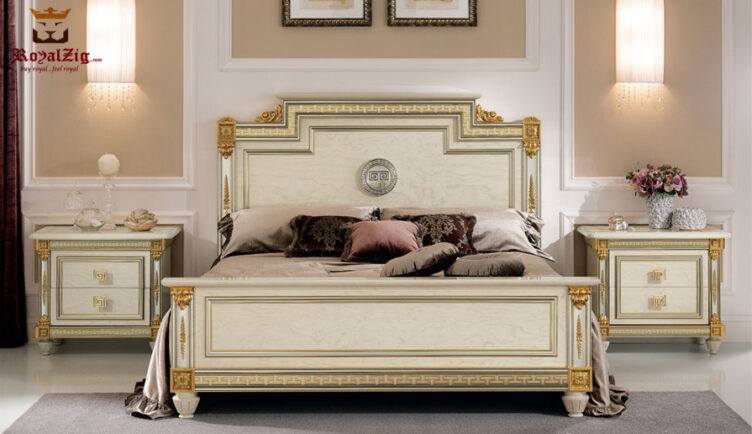 San Deigo Luxury Motif Carving Bed