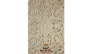 Wooden hand carved king size panel bed frame (5)