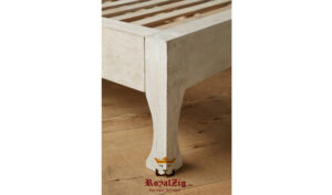 Wooden hand carved king size panel bed frame (6)