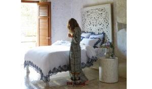 Wooden hand carved king size panel bed frame (8)