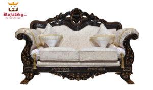 Antique Walnut Finish Carving Sofa Set With antique walnut finish