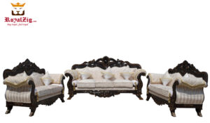 Antique Walnut Finish Carving Sofa Set