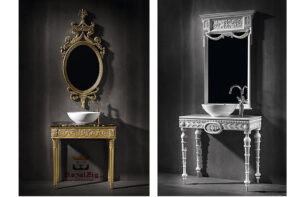 console with mirror frame