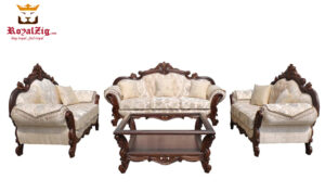 Royalzig European Style 7 Seater Carved Sofa Set