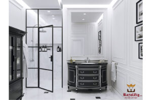 luxury bathroom mirror with cabnet