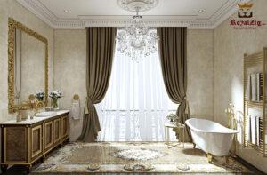 Luxury Big Mirror With Storage Cabinet