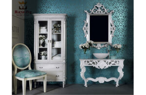 classical Victorian Style mirror with Console