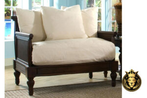 British Colonial Style Wooden Sofa Set online in India