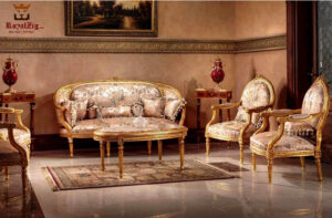 French Style Small Carving Curve Sofa Set
