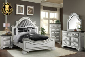 Gorgeous American Antique Style White Bedroom Set online in India