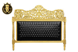 Hand Carved Golden Baroque Bed Frame online in India