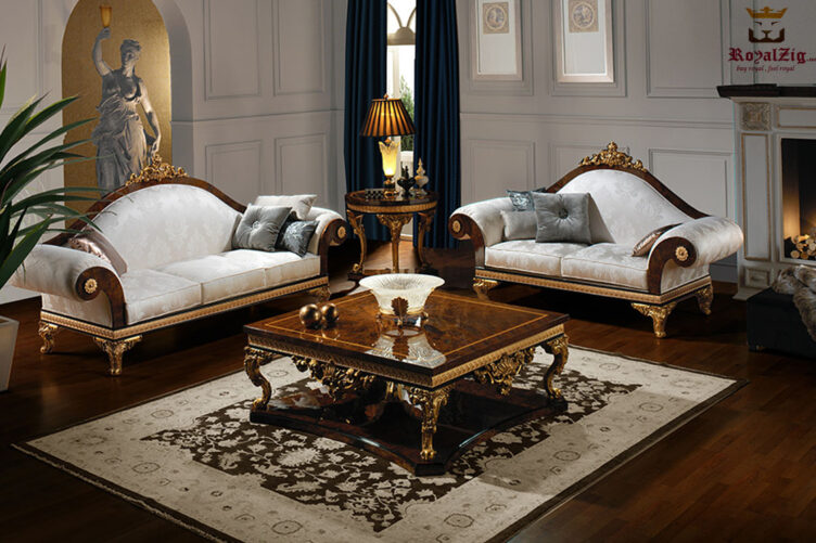 Imperial French Style Carved Sofa Set