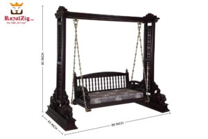 Indian Traditional Style Dark Walnut Swing