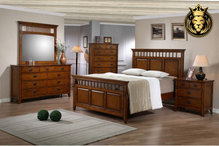 Indian Traditional Style Rosewood Bedroom Set
