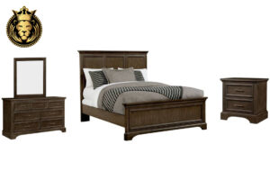 Indian Traditional Style Teak Wood Bedroom Set