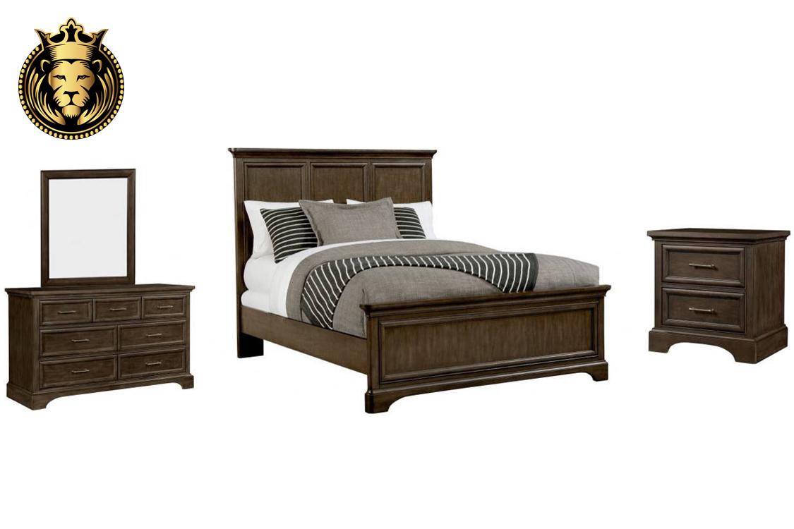 Indian Traditional Style Teak Wood Bedroom Set